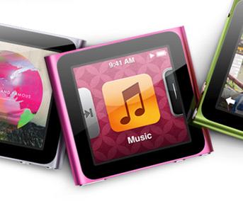 Розовый iPod Nano