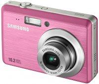 Розовый фотоаппарат Samsung ES55