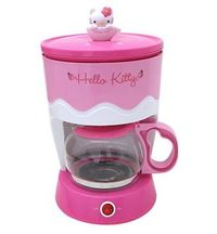 Розовая кофеварка Hello Kitty