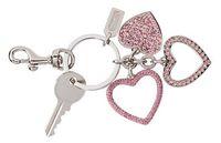 Брелок для ключей с розовыми стразами