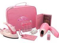 Розовый дорожный набор